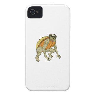 Kappa Monster Crouching Drawing iPhone 4 Cases