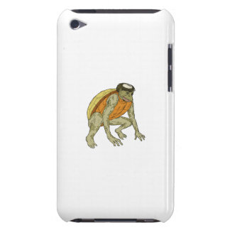 Kappa Monster Crouching Drawing iPod Touch Cover