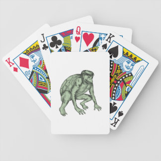 Kappa Monster Crouching Tattoo Bicycle Playing Cards