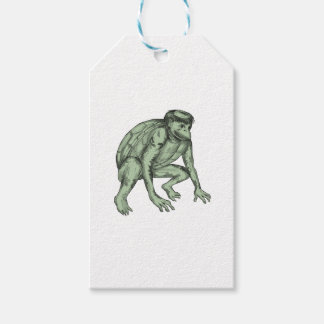 Kappa Monster Crouching Tattoo Gift Tags