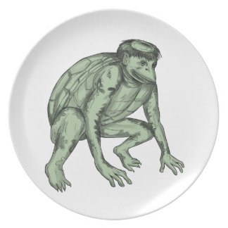 Kappa Monster Crouching Tattoo Plate