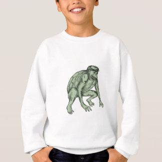 Kappa Monster Crouching Tattoo Sweatshirt