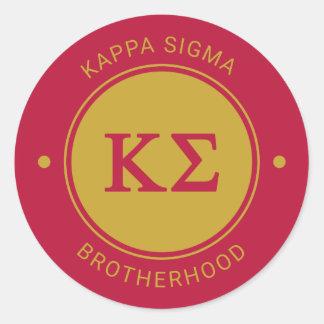 Kappa Sigma | Badge Classic Round Sticker