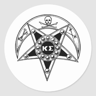 Kappa Sigma Badge Round Sticker
