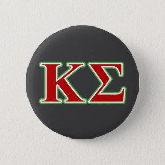 Kappa Sigma Red and Green Letters 2 Inch Round Button