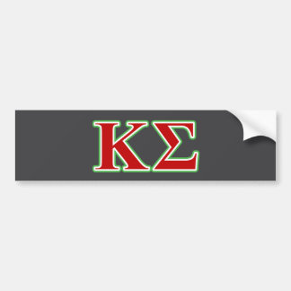 Kappa Sigma Red and Green Letters Bumper Sticker
