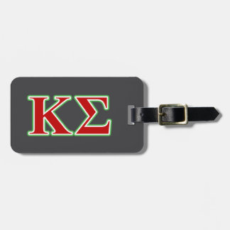 Kappa Sigma Red and Green Letters Luggage Tag