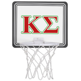 Kappa Sigma Red and Green Letters Mini Basketball Hoop