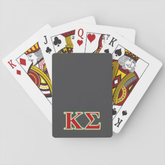Kappa Sigma Red and Green Letters Playing Cards
