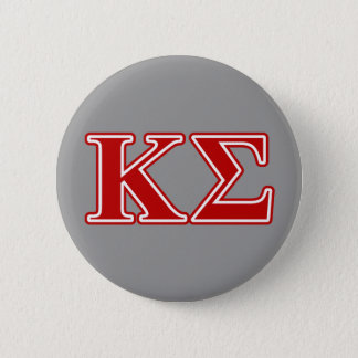 Kappa Sigma Red Letters 2 Inch Round Button
