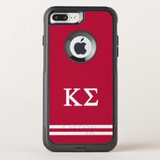 Kappa Sigma | Sport Stripe OtterBox Commuter iPhone 8 Plus/7 Plus Case