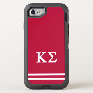 Kappa Sigma | Sport Stripe OtterBox Defender iPhone 8/7 Case