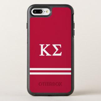 Kappa Sigma | Sport Stripe OtterBox Symmetry iPhone 7 Plus Case