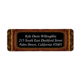 Kara Beautiful Old Style Return Address Label