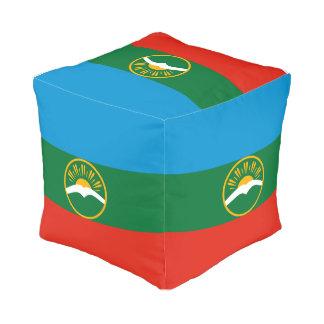 Karachay-Cherkessia Flag Pouf
