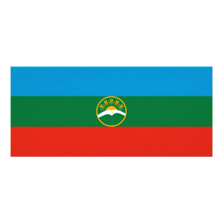 Karachay-Cherkessia Flag Rack Card