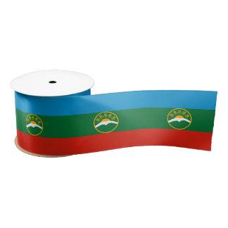 Karachay-Cherkessia Flag Satin Ribbon