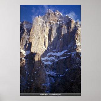 Karakoram mountain range poster