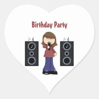 Karaoke Birthday Party Stickers