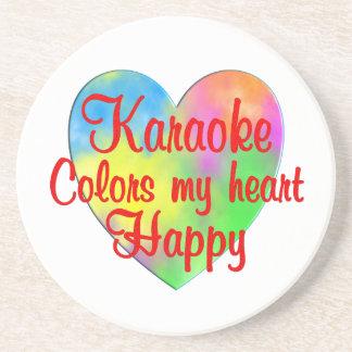 Karaoke Colors My Heart Happy Beverage Coaster