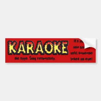Karaoke Danger - Bumper Sticker Car Bumper Sticker