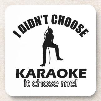 karaoke designs beverage coasters