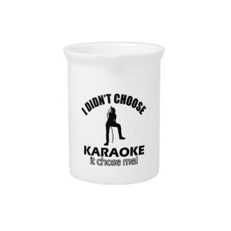 karaoke designs drink pitchers