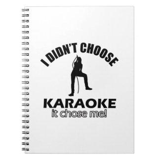 karaoke designs notebook