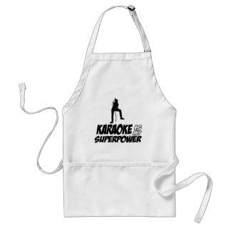 Karaoke designs standard apron