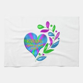 Karaoke Happy Heart Towels