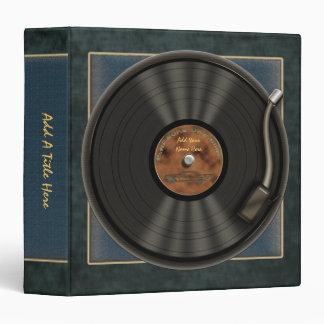 "Karaoke LP Vinyl Record  1.5"" Avery Binder"