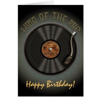 Karaoke LP Vinyl Record Greetings Card