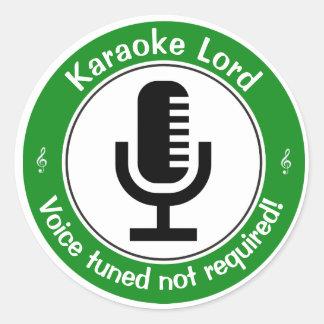 Karaoke Master Classic Round Sticker