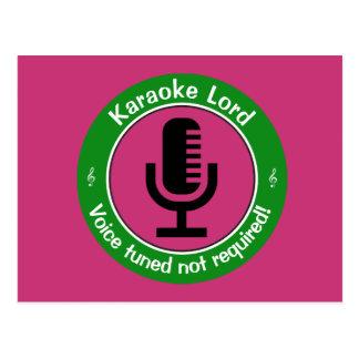 Karaoke Master Postcard