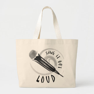 Karaoke Microphone Sing it out LOUD Large Tote Bag