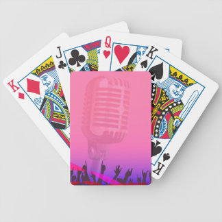 Karaoke Night Audience Poster Bicycle Playing Cards