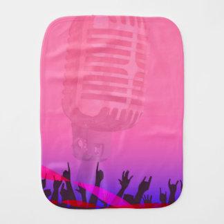 Karaoke Night Audience Poster Burp Cloth
