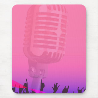 Karaoke Night Audience Poster Mouse Pad