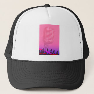 Karaoke Night Audience Poster Trucker Hat