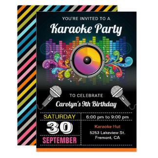 Karaoke Party | Colourful Music Birthday Card
