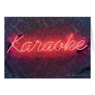 Karaoke Sign Card