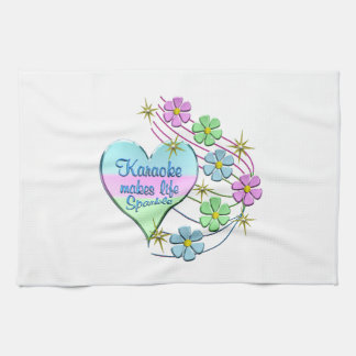 Karaoke Sparkles Kitchen Towel