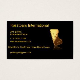 Karatbars International Business Card