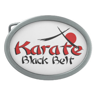 karate black belt belt buckle