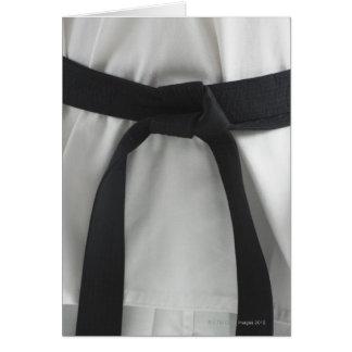 Karate black belt card