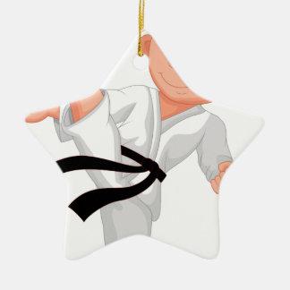 KARATE BOY CERAMIC STAR ORNAMENT