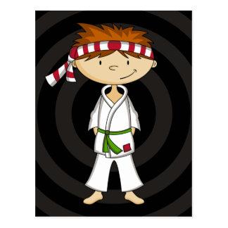 Karate Boy Postcard