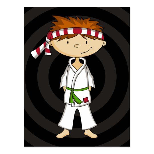 Karate Boy Postcard