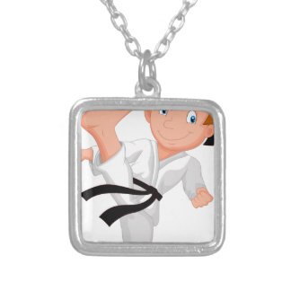 KARATE BOY SILVER PLATED NECKLACE