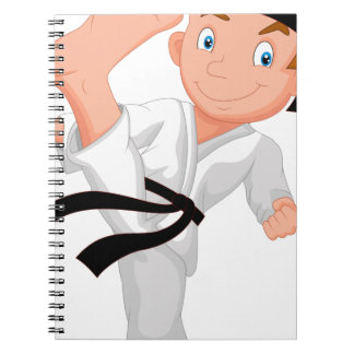 KARATE BOY SPIRAL NOTEBOOK